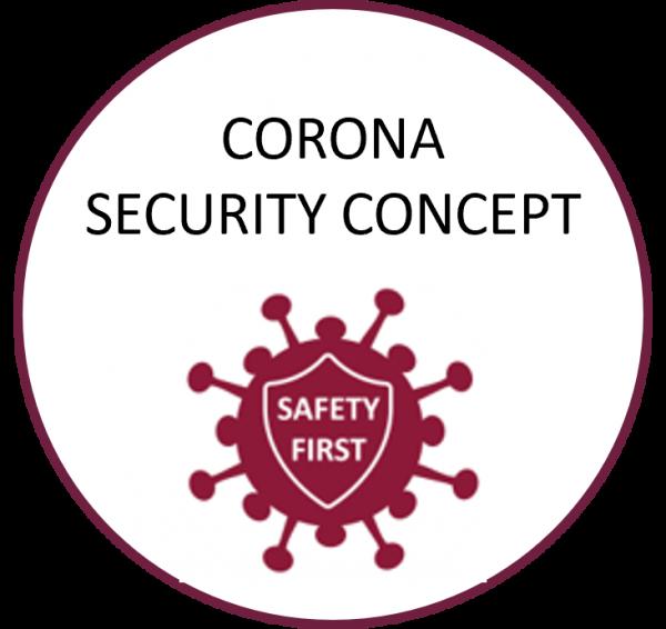 corona Sicherheits button englisch